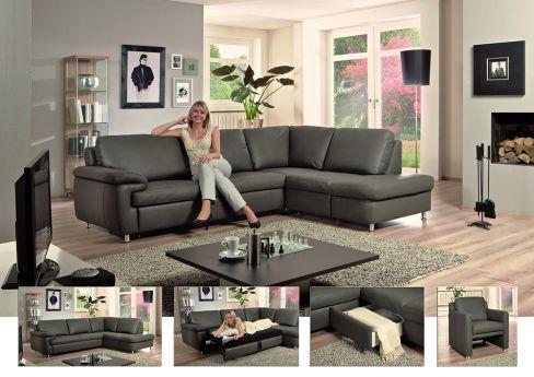 ledersofa allround ecru von polinova polsterm bel m bel letz ihr online shop. Black Bedroom Furniture Sets. Home Design Ideas