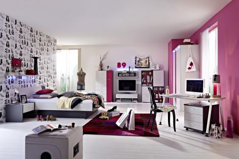 jugendzimmer it 39 s classic von r hr bush fuchsia m bel. Black Bedroom Furniture Sets. Home Design Ideas