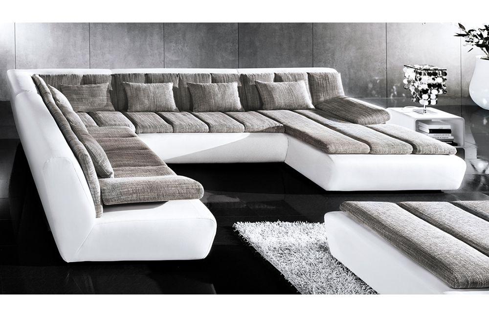 woodstock von candy wohnlandschaft wei platin. Black Bedroom Furniture Sets. Home Design Ideas