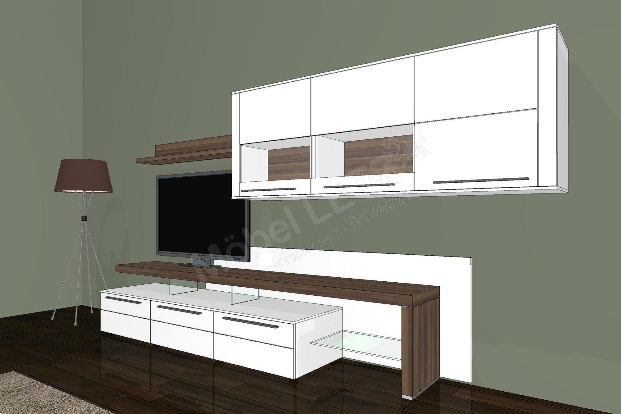 Bellano von gwinner wohnwand be15 wohnzimmer online kaufen 39 - Wossner esszimmer ...