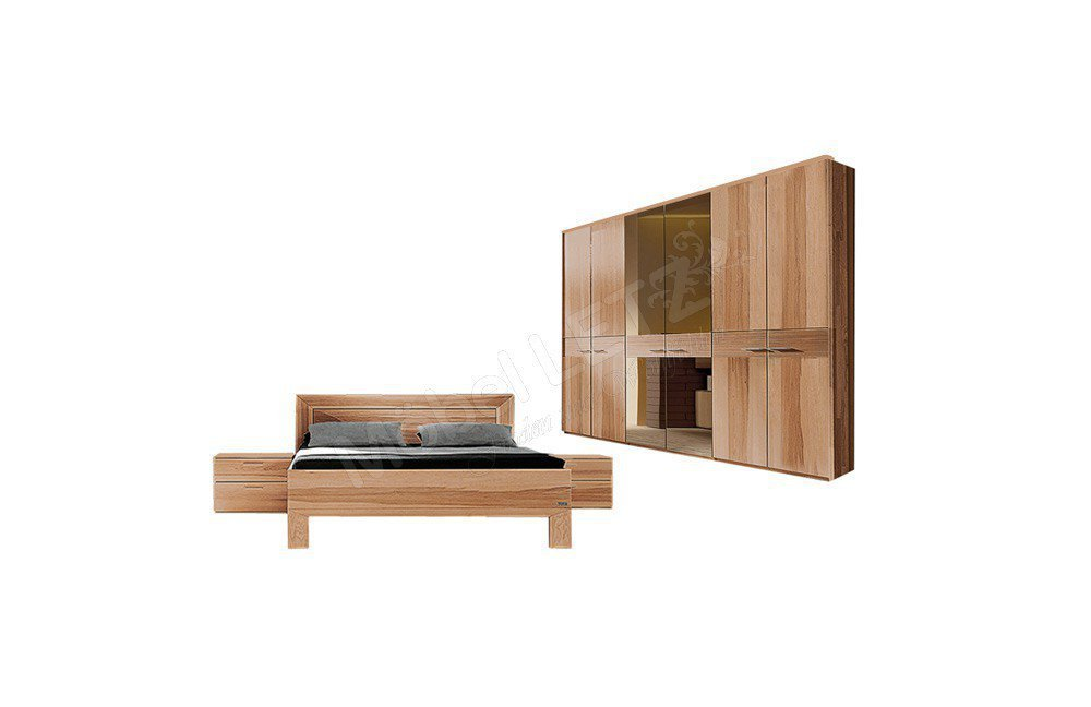 schlafzimmer mali von thielemeyer in strukturesche massiv. Black Bedroom Furniture Sets. Home Design Ideas