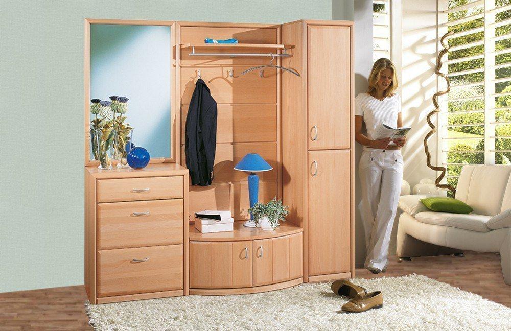 kompakt garderobe serie 600 von leinkenjost buche 664 14 m bel letz ihr online shop. Black Bedroom Furniture Sets. Home Design Ideas