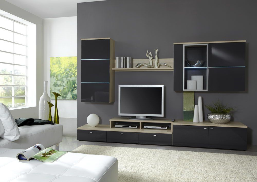 calgary von domina wohnwand 2. Black Bedroom Furniture Sets. Home Design Ideas