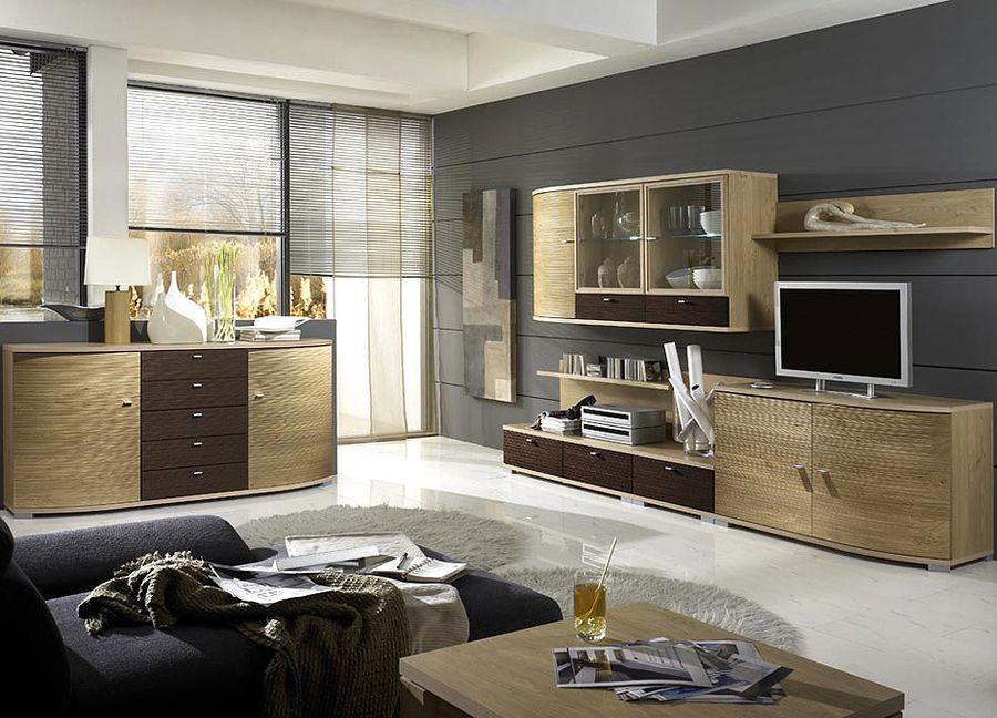 cremona von domina wohnwand 1. Black Bedroom Furniture Sets. Home Design Ideas