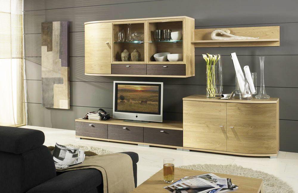 cremona von domina wohnwand 6. Black Bedroom Furniture Sets. Home Design Ideas