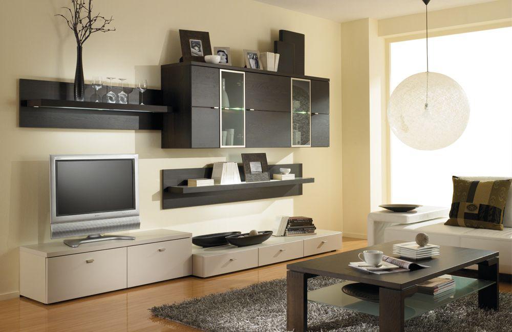 riva von gwinner wohnwand ri08 eiche choco wohnzimmer. Black Bedroom Furniture Sets. Home Design Ideas