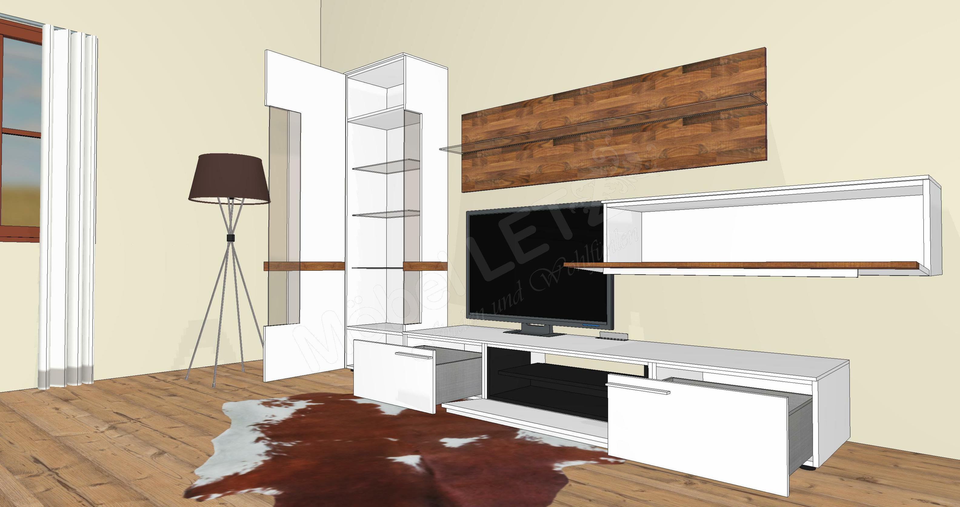 wohnwand casale cs4 von gwinner wohndesign m bel letz ihr online shop. Black Bedroom Furniture Sets. Home Design Ideas