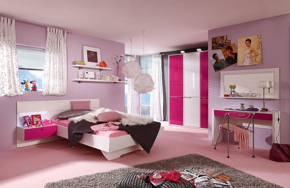 Starlight girl von nolte delbr ck jugendzimmer wei pink 2 for Jugendzimmer betten shop