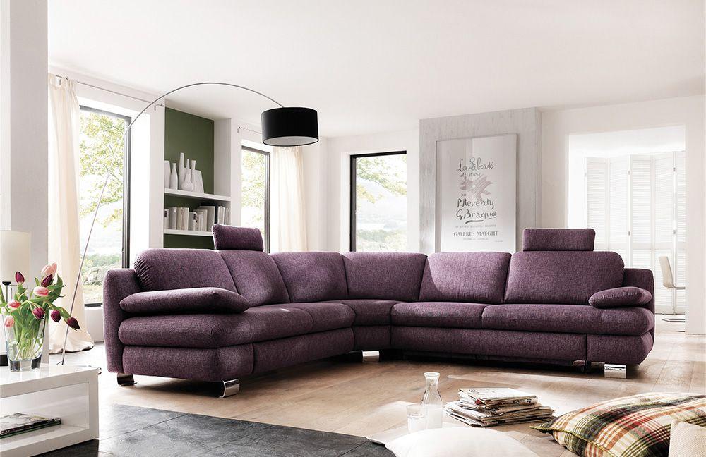 gloria von carina eckcouch purple polsterm bel g nstig. Black Bedroom Furniture Sets. Home Design Ideas