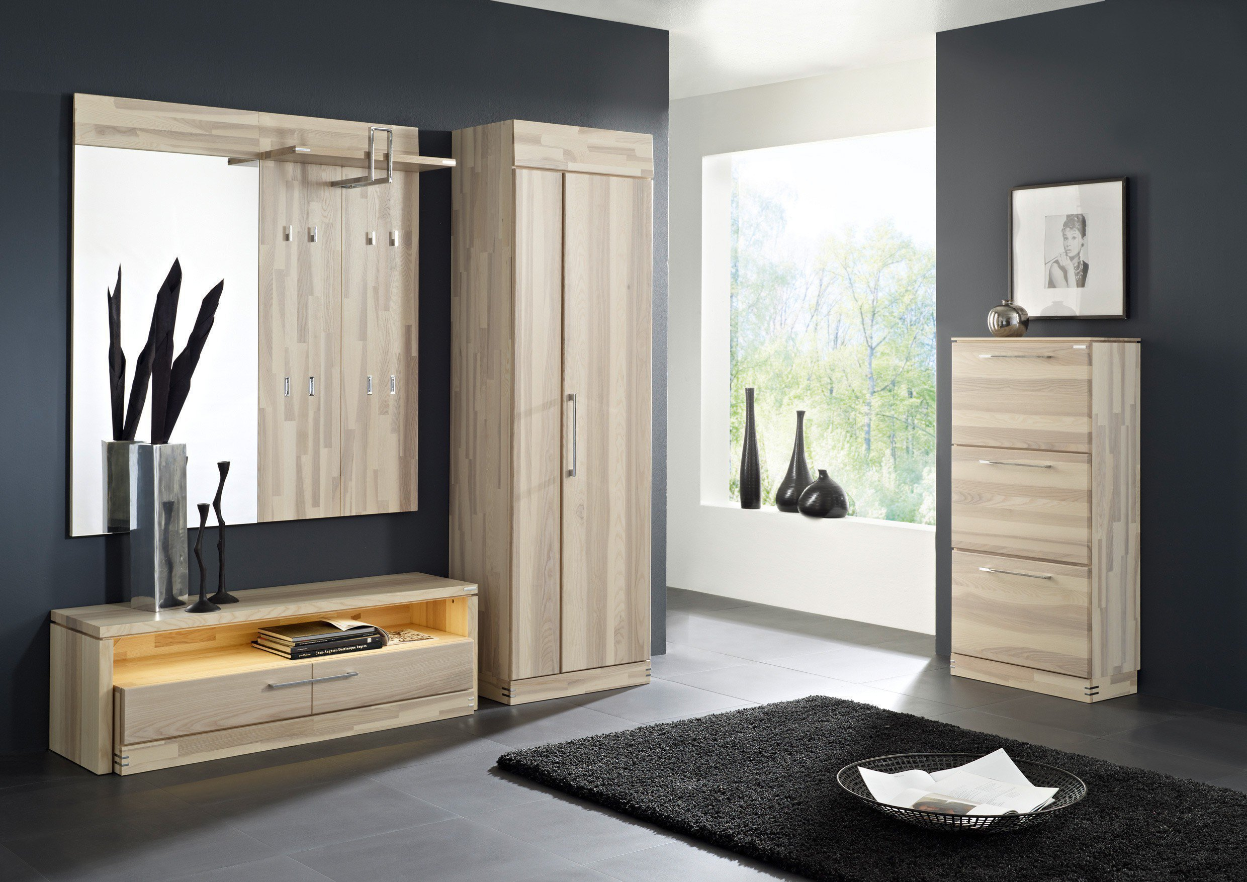 garderobe terra set 9 massiv von bienenm hle m bel letz ihr online shop. Black Bedroom Furniture Sets. Home Design Ideas