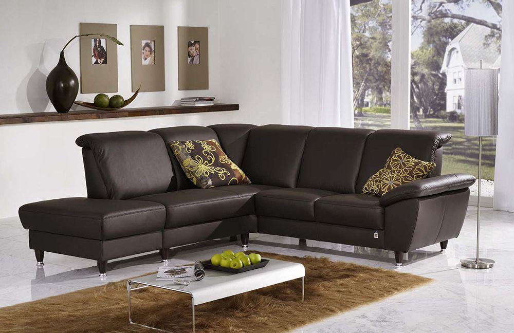 domino ledersofa mokka braun von f s polsterm bel m bel letz ihr online shop. Black Bedroom Furniture Sets. Home Design Ideas
