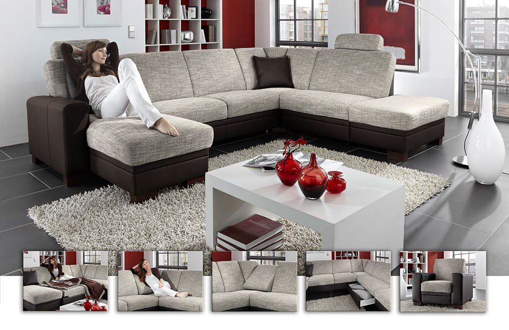 cleveland s von zehdenick wohnlandschaft espresso polsterm bel g nstig online kaufen sofa. Black Bedroom Furniture Sets. Home Design Ideas