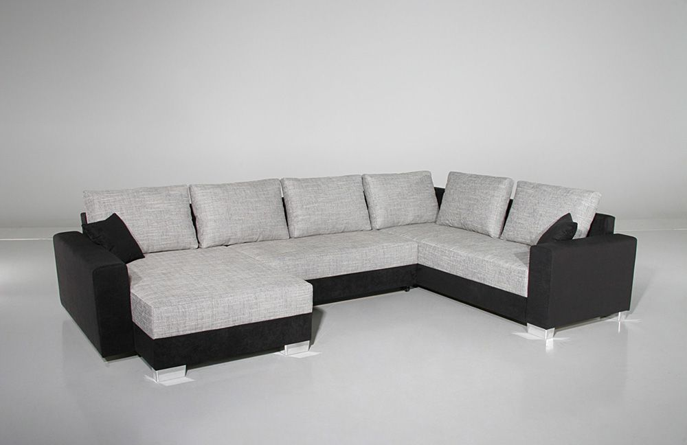 abbot von job wohnlandschaft grau schwarz polsterm bel g nstig online kaufen sofa couch. Black Bedroom Furniture Sets. Home Design Ideas