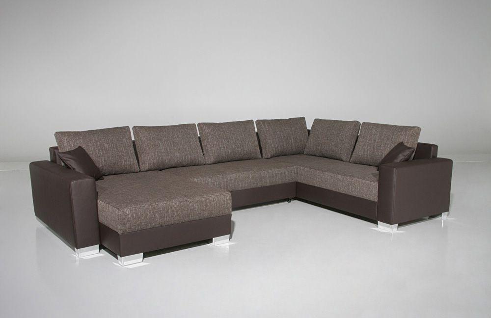abbot von job wohnlandschaft braun meliert polsterm bel g nstig online kaufen sofa couch. Black Bedroom Furniture Sets. Home Design Ideas
