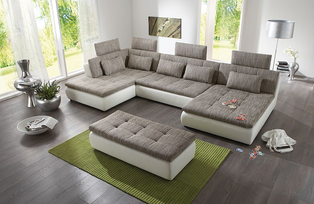 free von megapol wohnlandschaft white esspresso polsterm bel g nstig online kaufen sofa couch. Black Bedroom Furniture Sets. Home Design Ideas