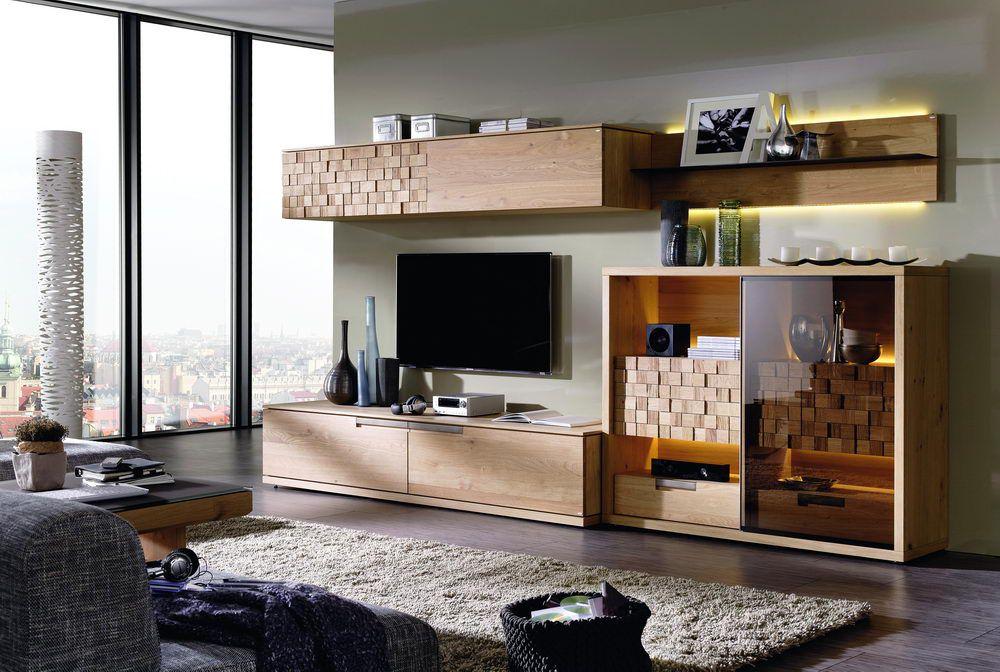 v quadro von voglauer wohnwand wildeiche 279 wohnzimmer online kaufen 39. Black Bedroom Furniture Sets. Home Design Ideas