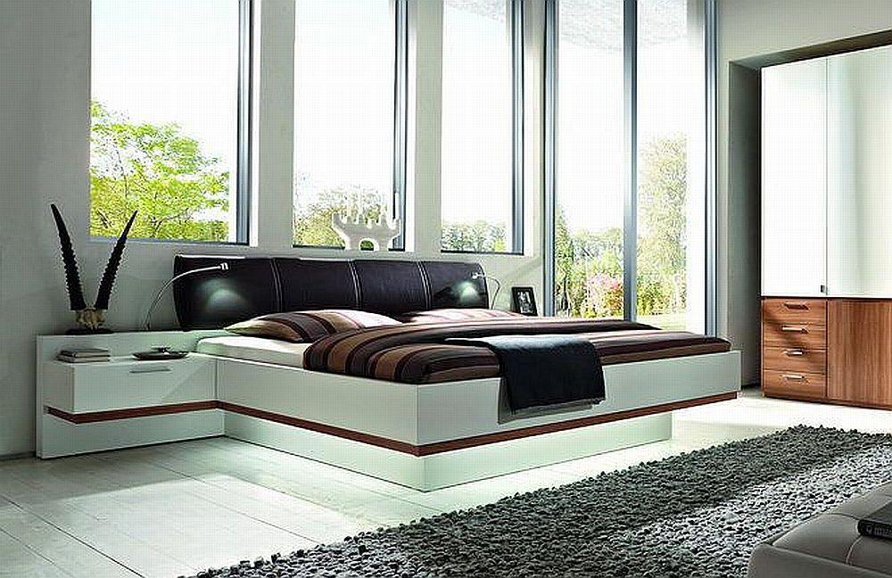 Skyline von nolte delbr ck schlafzimmer walnuss lack wei online kaufen betten - Schlafzimmer von nolte ...