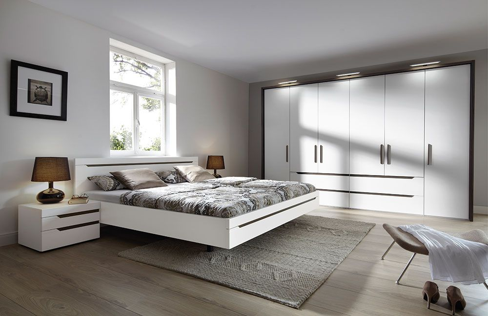 loriano von nolte m bel schlafzimmer walnuss natur wei. Black Bedroom Furniture Sets. Home Design Ideas