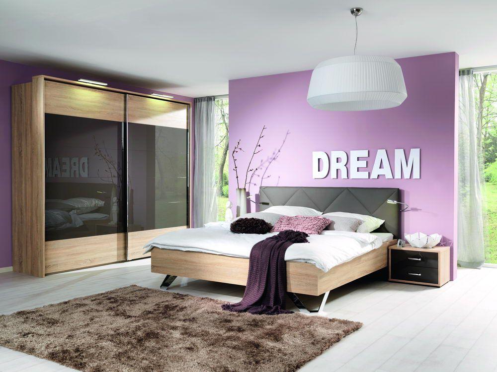 lugo von wellem bel schlafzimmer hochglanz lava. Black Bedroom Furniture Sets. Home Design Ideas