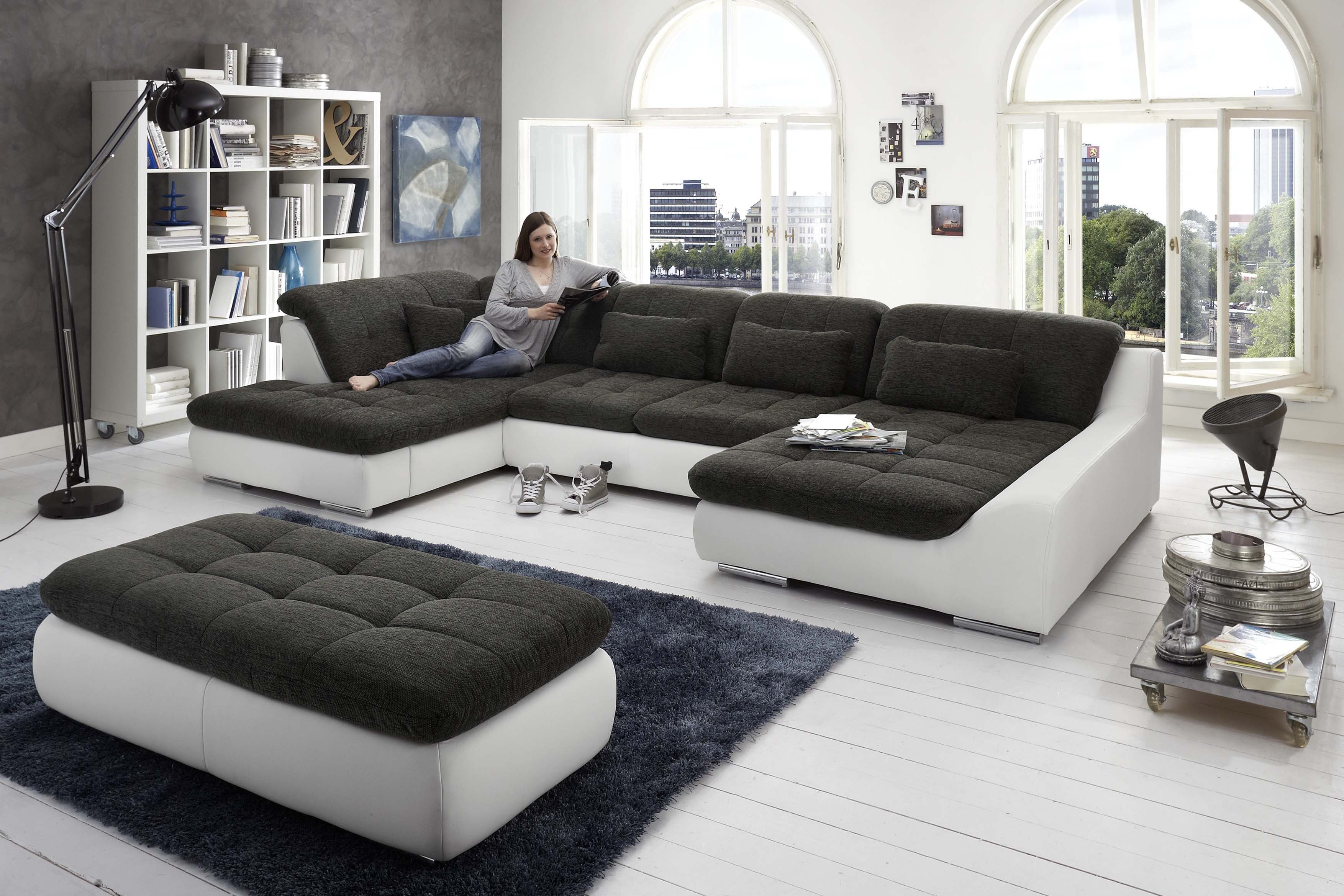 spike von megapol wohnlandschaft snow slate polsterm bel g nstig online kaufen sofa couch. Black Bedroom Furniture Sets. Home Design Ideas