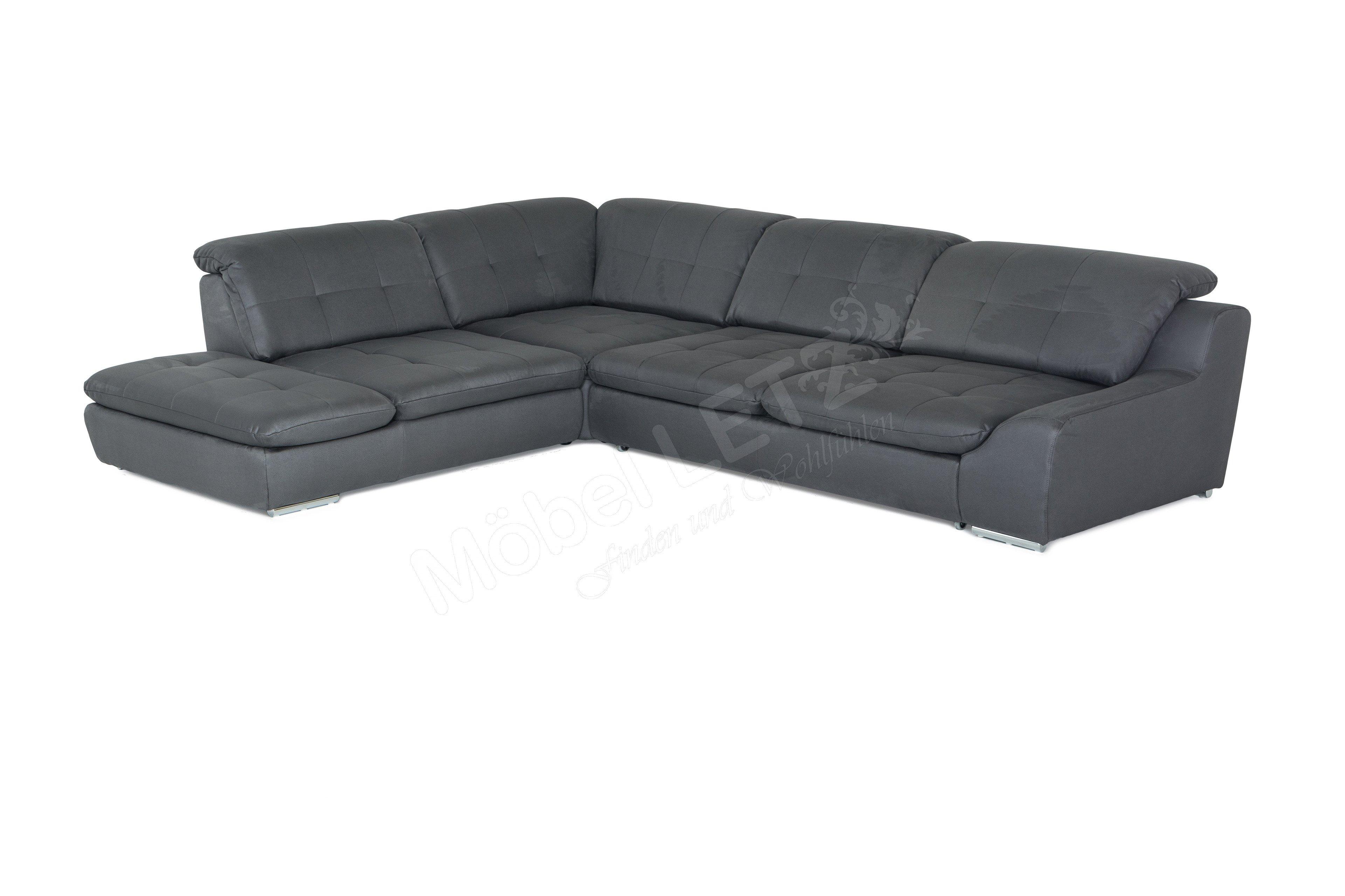 couchgarnitur spike schwarz wei von megapol polsterm bel. Black Bedroom Furniture Sets. Home Design Ideas
