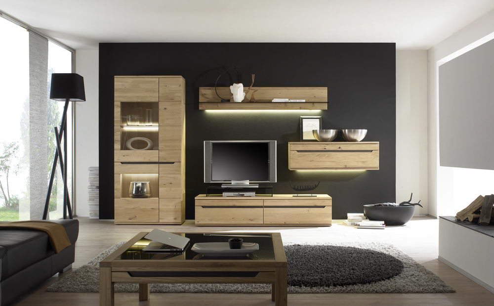 wohnwand ameno 18123 wildeiche von decker m bel letz ihr online shop. Black Bedroom Furniture Sets. Home Design Ideas