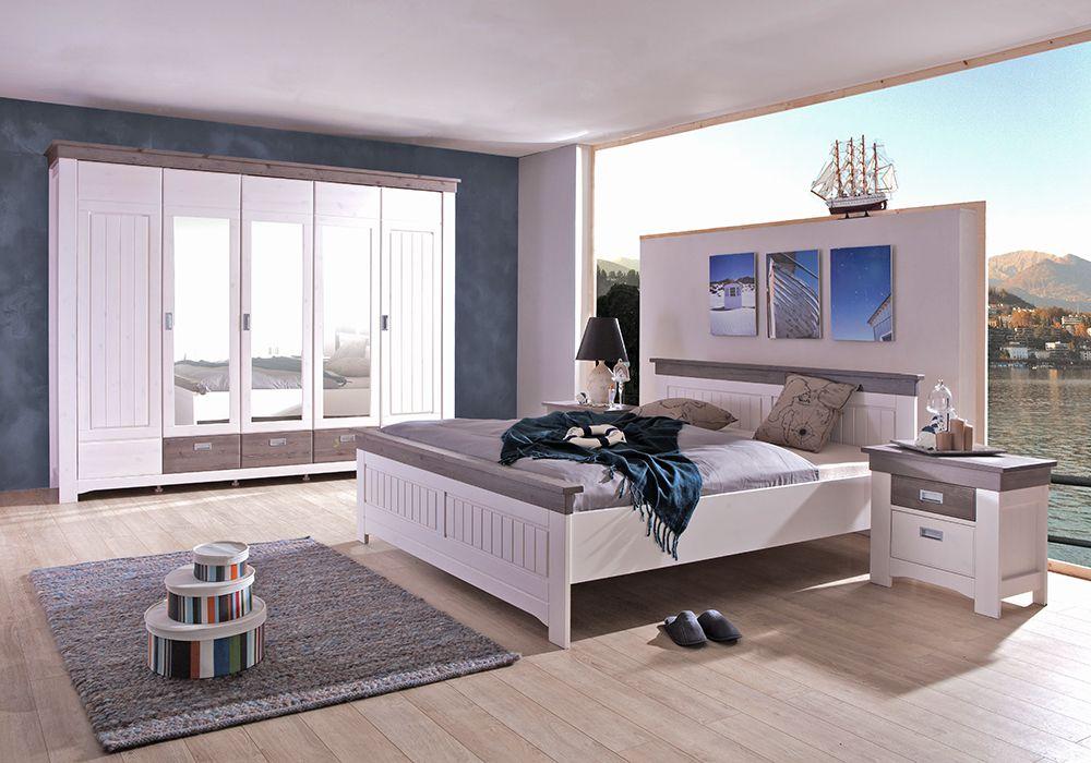 Luca von ims living schlafzimmer kiefer wei tr ffelfarbig online kaufen betten - Schlafzimmer luca ...