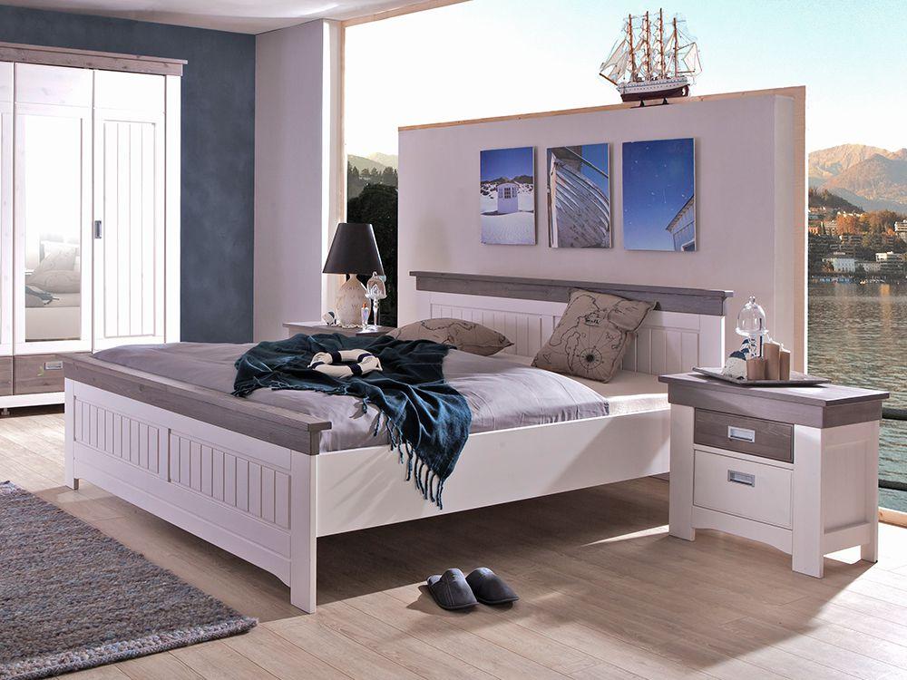 Luca von ims living schlafzimmer kiefer wei - Komplett schlafzimmer luca ...
