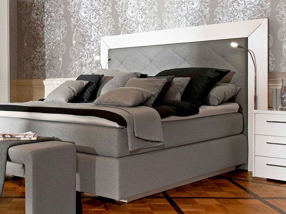 maximum von loddenkemper schlafzimmer wei grau online. Black Bedroom Furniture Sets. Home Design Ideas