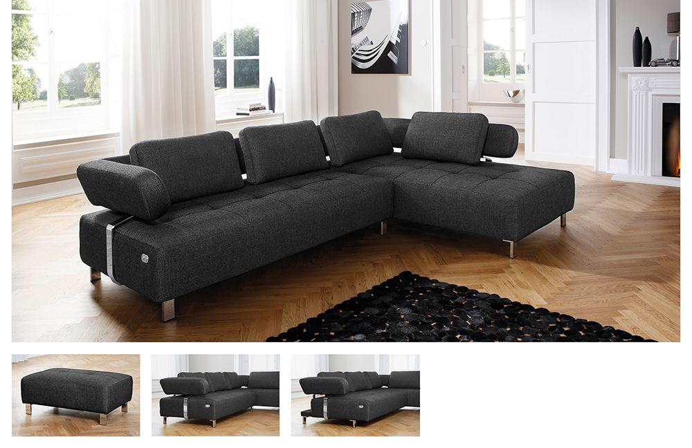 bradford br gge von candy polsterm bel wohnlandschaft grau. Black Bedroom Furniture Sets. Home Design Ideas