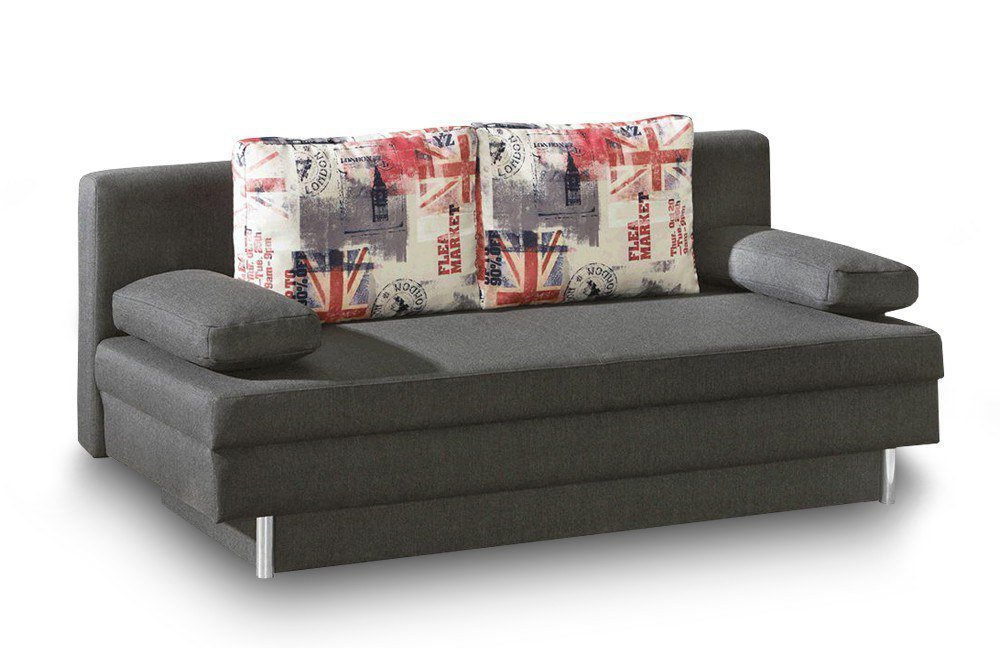 kirk von restyl schlafsofa grau schlafsofas g nstig online kaufen sofa couch schlafsofa zum. Black Bedroom Furniture Sets. Home Design Ideas