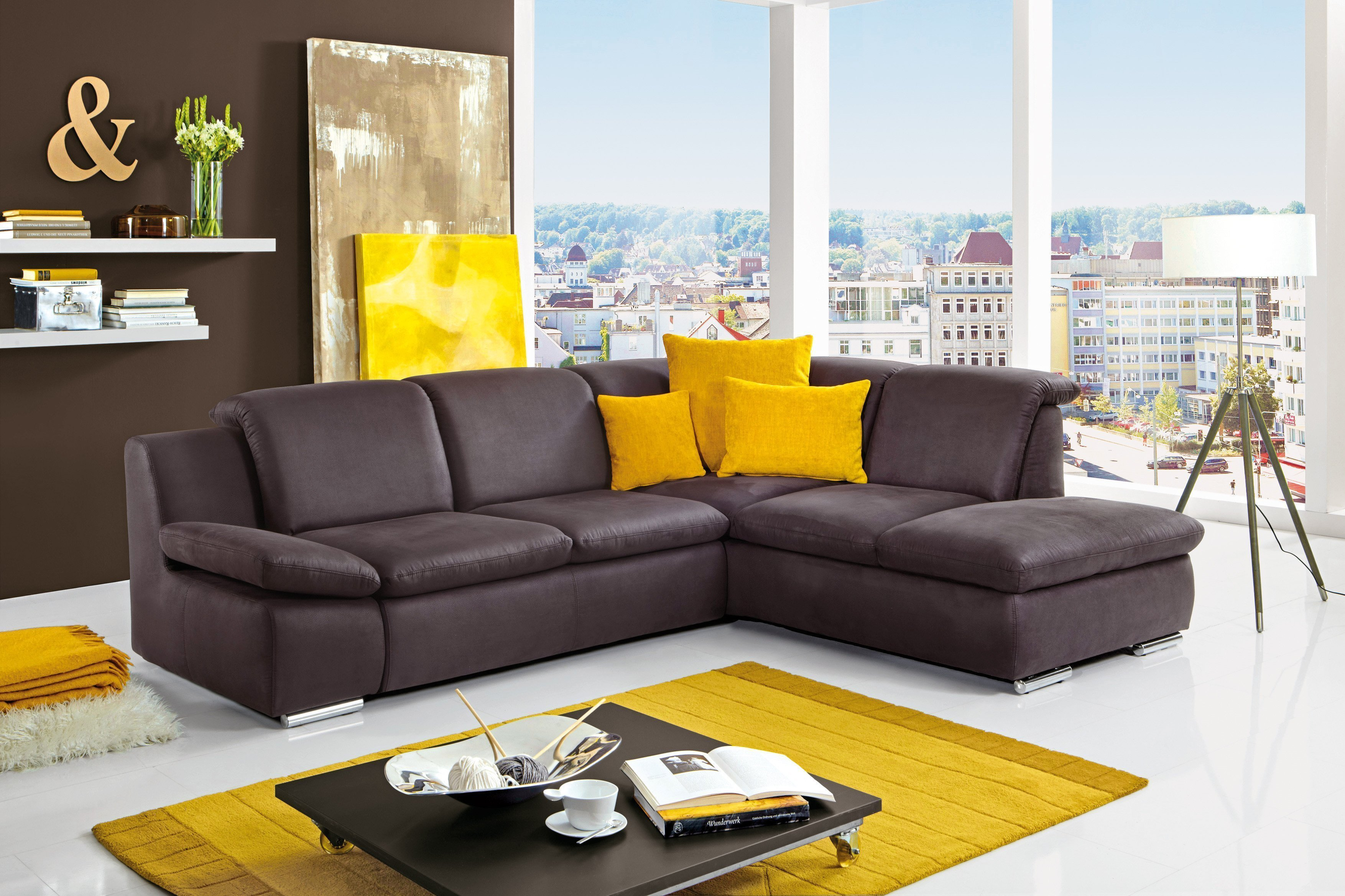 isona von poco ecksofa anthrazit polsterm bel g nstig. Black Bedroom Furniture Sets. Home Design Ideas