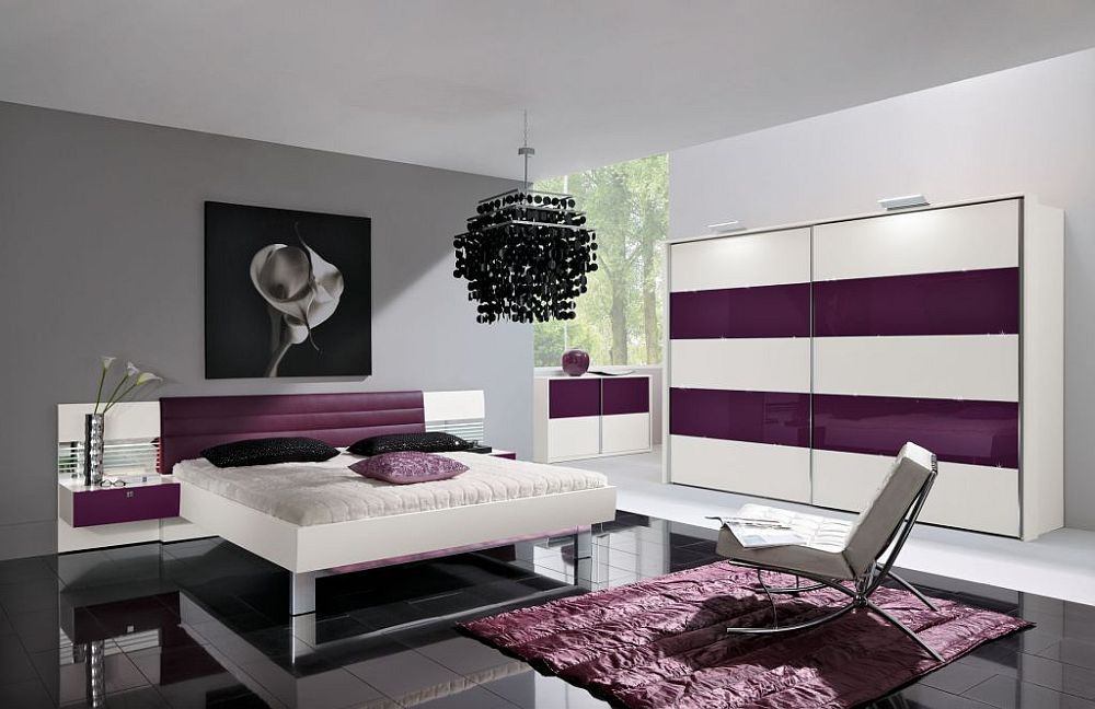 starlight von nolte delbr ck schlafzimmer aubergine. Black Bedroom Furniture Sets. Home Design Ideas