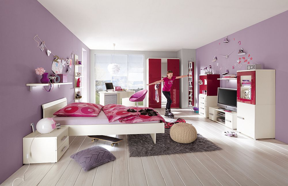 change plus von r hr bush jugendzimmer rot metallic. Black Bedroom Furniture Sets. Home Design Ideas