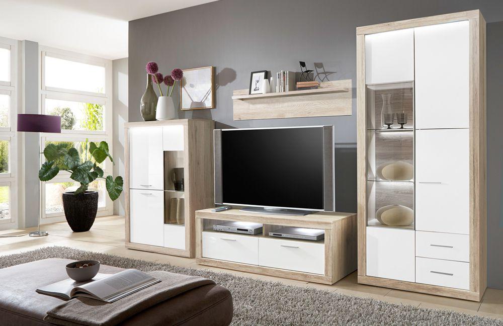 aruba von ideal wohnwand 24. Black Bedroom Furniture Sets. Home Design Ideas