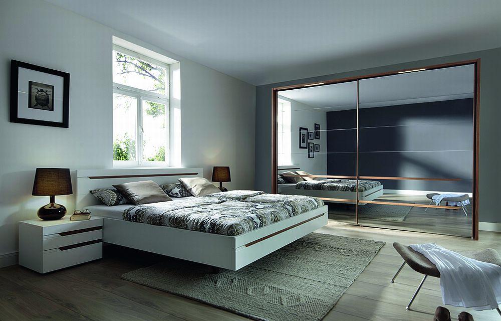 Schlafzimmer Natur : Loriano von Nolte Möbel  Schlafzimmer weiß Walnussnatur