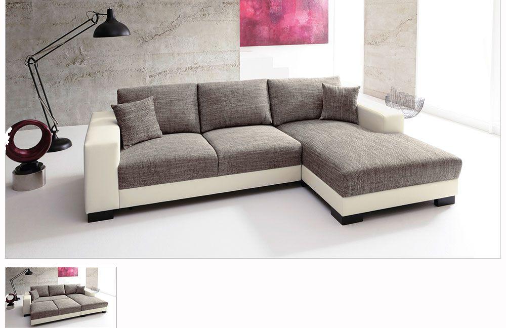 lagos livigno von candy ecksofa wei grau. Black Bedroom Furniture Sets. Home Design Ideas