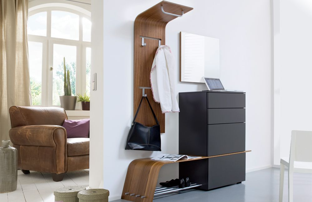 garderobe elli 248 in nussbaum glattlack quarz von. Black Bedroom Furniture Sets. Home Design Ideas