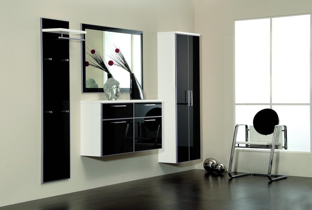 garderobe ventura set 1 wei anthrazit von voss m bel m bel letz ihr online shop. Black Bedroom Furniture Sets. Home Design Ideas