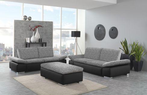 cesena von poco polsterm bel polstergarnitur grau. Black Bedroom Furniture Sets. Home Design Ideas