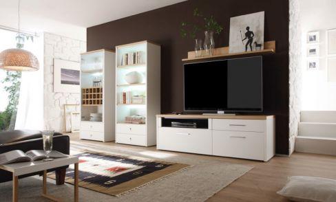 wehrsdorfer wohnwand studio ph 539 wei kernbuche m bel letz ihr online shop. Black Bedroom Furniture Sets. Home Design Ideas