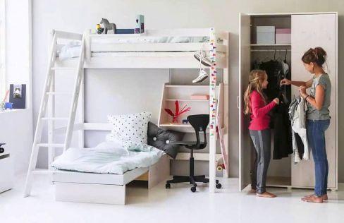 Flexa Etagenbett Classic : Flexa hochbett classic mit sofabett kiefer weiß möbel letz ihr