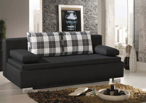 schlafsofa hannover in anthrazit von select style m bel letz ihr online shop. Black Bedroom Furniture Sets. Home Design Ideas