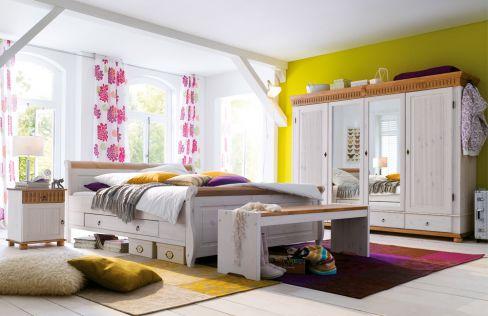 Helsinki/ Malta von Euro Diffusion - Schlafzimmer weiß/ antik