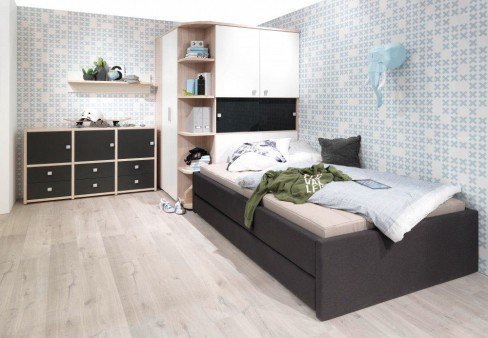 unlimited von welle jugendzimmer esche wei anthrazit. Black Bedroom Furniture Sets. Home Design Ideas