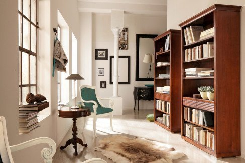 Luna von Selva Timeless - Bücherregal 8233 nussbaumfarbig antik