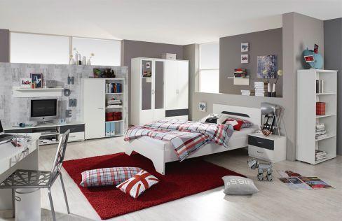Noosa von Rauch Blue - Jugendzimmer weiß & grau-metallic