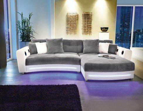 ecksofa laredo von jockenh fer in grau wei m bel letz ihr online shop. Black Bedroom Furniture Sets. Home Design Ideas