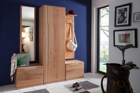 bienenm hle garderobe paso kernbuche 3 teilig m bel letz ihr online shop. Black Bedroom Furniture Sets. Home Design Ideas
