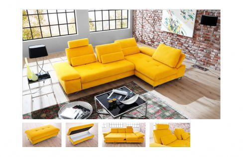 Candy brasil polstergarnitur in gelb m bel letz ihr for Ecksofa yellow